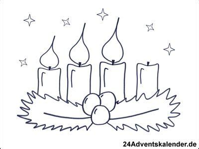malvorlagen mit adventskranz  adventskalender