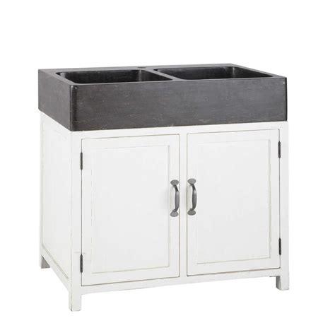 meuble avec evier cuisine meuble bas de cuisine avec évier en bois recyclé blanc l