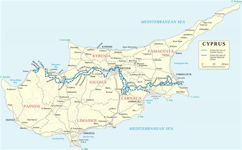 rivers  cyprus map