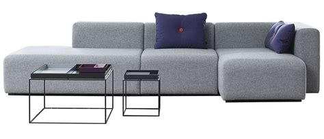 canapé ée 70 mags corner sofa l 302 cm right armrest light grey