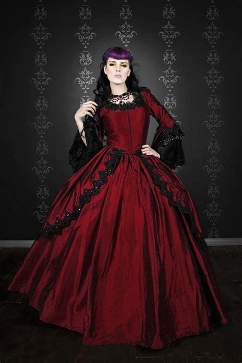 hottest red black gothic bridal wedding gowns