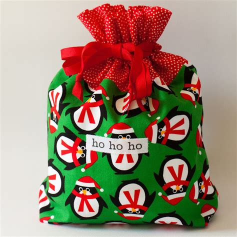 october 4 christmas fabric gift bags