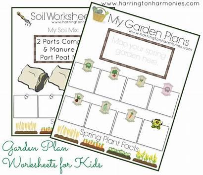 Garden Planner Gardening Worksheets Mini Plan Planning