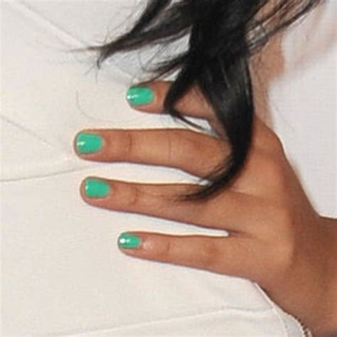 jasmine villegas teal nails steal  style