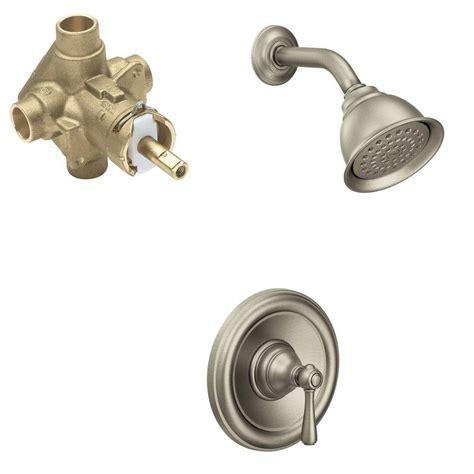Moen Kingsley Faucet Brushed Nickel by Moen Kingsley Single Handle 1 Spray Positemp Shower Faucet