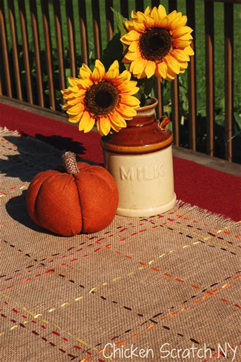 fall table runners to make autumn burlap and ribbon table runner tutorial