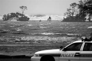Florida Memory  U2022 Police Car And Storm Surge During