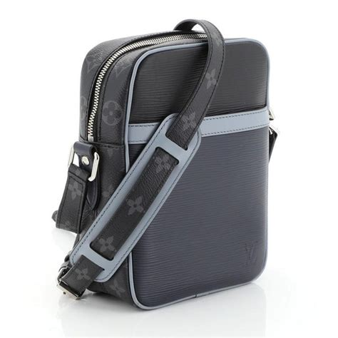 louis vuitton danube handbag epi leather  monogram eclipse canvas pm  stdibs