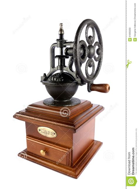 Hantehon manual coffee grinder vintage coffee grinder. Fancy Old-fashioned Coffee Grinder Isolated On White Stock Photo - Image of close, traditional ...