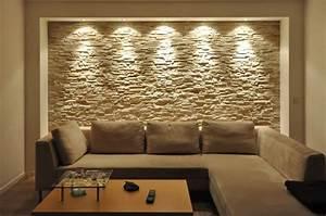 Wohnzimmer Farbe Gestaltung : wandgestaltung mit riemchen ~ Markanthonyermac.com Haus und Dekorationen