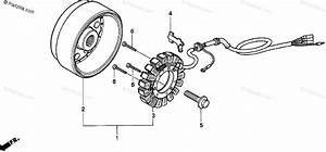 Honda Motorcycle 1994 Oem Parts Diagram For Alternator