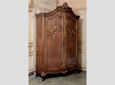 Antique French Regence Serpentine Walnut Armoire Modern