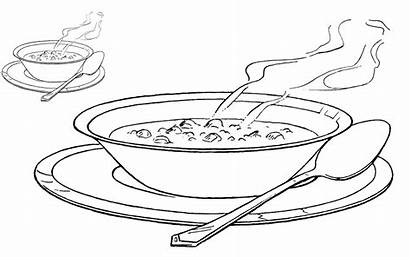 Soup Bowl Coloring Drawing Pages Printable Stew