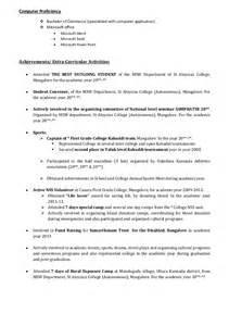 academic achievements exles for resume freshers cv format