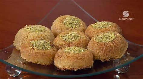 samira tv cuisine fares djidi طريقة تحضير قطايف او كنافة على شكل عش