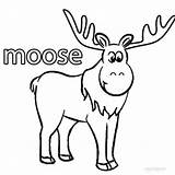 Moose Coloring Pages Cartoon Printable Cool2bkids sketch template