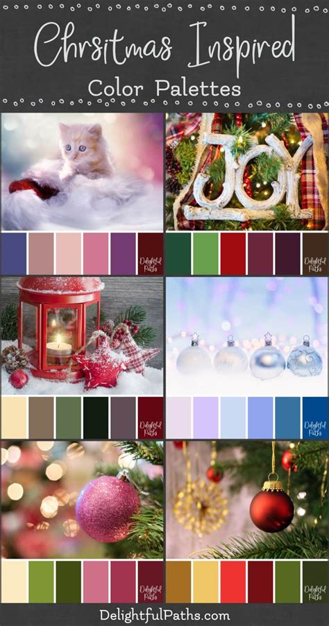 christmas color palettes delightful paths