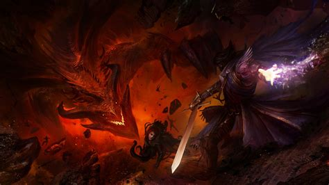 Deathwing Animated Wallpaper - sword magic guild wars knights warrior cape