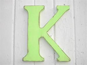 Nursery letter k wooden 12 inch letters wall hanging home for Wall letter k