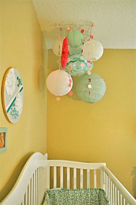 ideas  decorate  nusery room  mobile paper