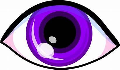 Eyes Eye Clipart Clip Purple Halloween Happy