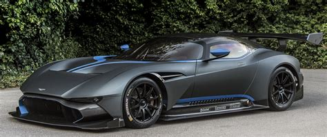 Aston Martin Vulcan Sports Car Gray Side View Wallpaper