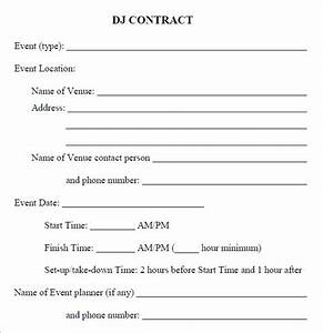 16 sample best dj contract templates to download sample With dj booking contract template
