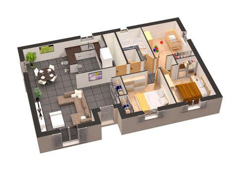 plan de maison plain pied 4 chambres gratuit plan maison plain pied 3d gratuit