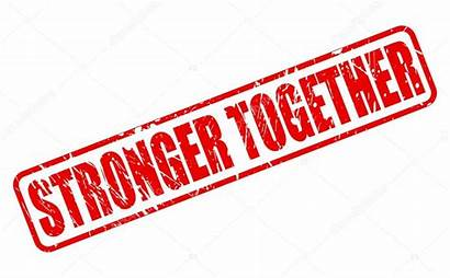 Together Stronger Text Stamp Vector Illustration Depositphotos
