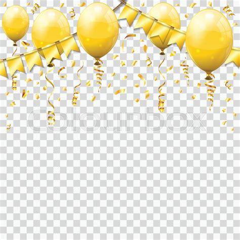 gold streamer  golden confetti stock vector