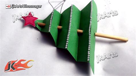 how to make christmas tree easy craft for kids jk arts 454