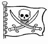 Pirate Coloring Pages Flag Flags Colouring Pirates Sheets Jolly Roger Theme Preschool sketch template