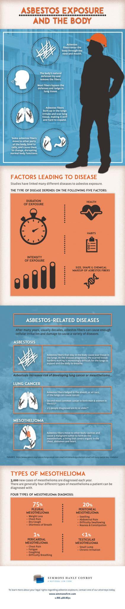 asbestos exposure   body infographic simmons
