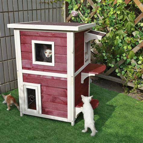 Outdoor Cat Shelter Pinterest'te  Kediler Ve Kedi