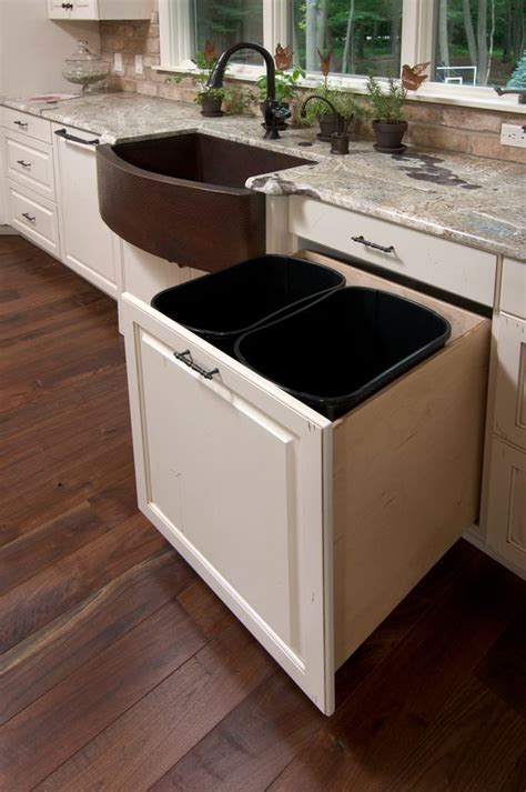 kitchen garbage cans sink 29 sneaky ways to hide a trash can in your kitchen digsdigs 8106