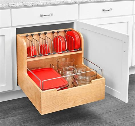 Kitchen Drawer Containers by Adjustable Pull Out Cabinet Drawer For Organizing Your