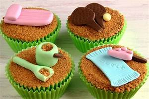 Beach Themed Fondant Cupcake/Cake Decorations - Happy