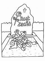 Coloring Pages Funeral Deceased Van Kleurplaten Begrafenis Dood Werkbladen Picgifs Coloringpages1001 Afkomstig Nl sketch template