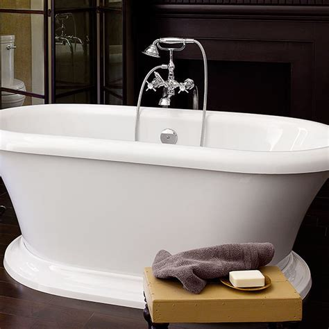 Tub Faucet  Traditional Floor Mount Tub Filler with