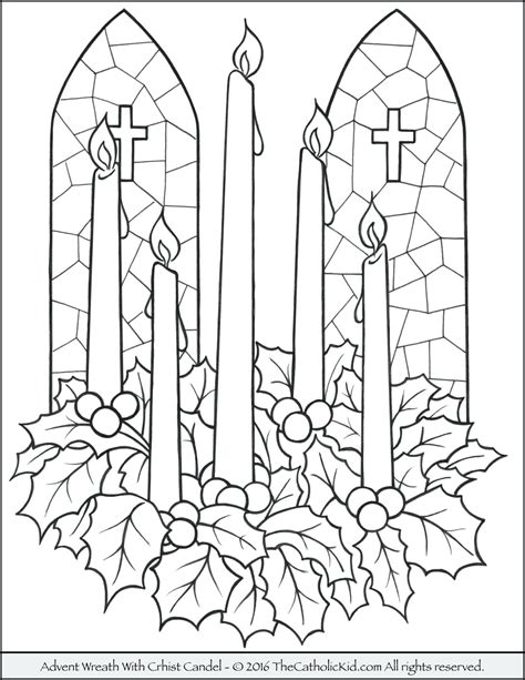 Printable Advent Wreath Coloring Pages Printable Candle