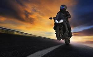 bike moto biker road rotation counting nature night feel