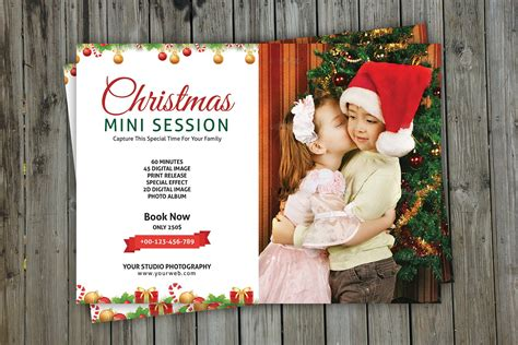 christmas mini session template v113 flyer templates