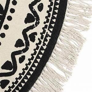 Vintage Teppich Rund : teppich vintage ethno muster c 120 cm grau naturwei 100 baumwolle ebay ~ Indierocktalk.com Haus und Dekorationen