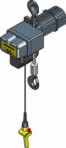 1 Ton Electric Chain Hoist Two Speed Street Lx Series