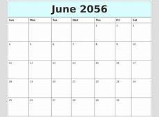 January 2056 Calendar Template