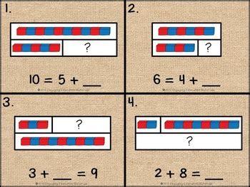 addition facts  tape diagrams   montessori