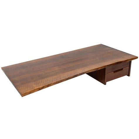 George Nakashima Wall Mounted Desk At 1stdibs