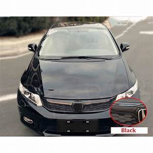 Black Sport Front Grill Bumper Honeycomb Mesh Grille For