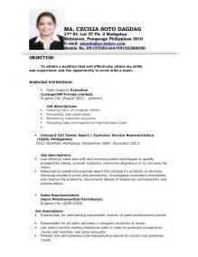 best resume format 2015 philippines holiday philippines resume sle resumes design