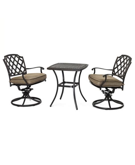 grove hill outdoor cast aluminum 3 pc dining set 26